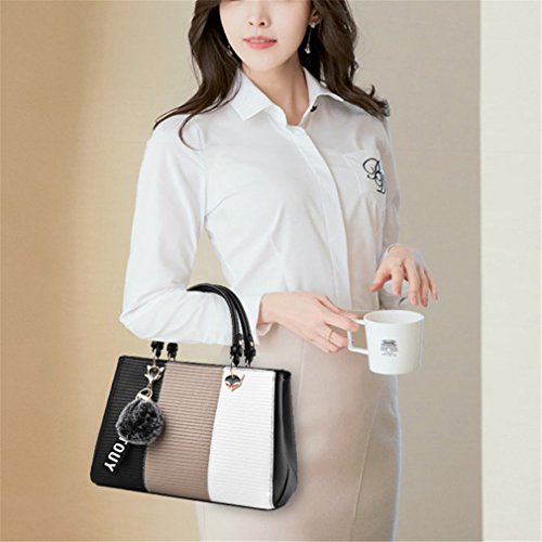 Kaoling Women's Patchwork Stereotypes handle Handbag 20cm Network 9cm Top Bag Crossbody Bag Fashion Bag Tote 28cm Rubber Women Women rPExSwprq