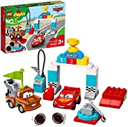 LEGO DUPLO Disney and Pixar Cars Lightning McQueen's Race Day 10924 Toddler Toy with Lightning McQueen and Mat