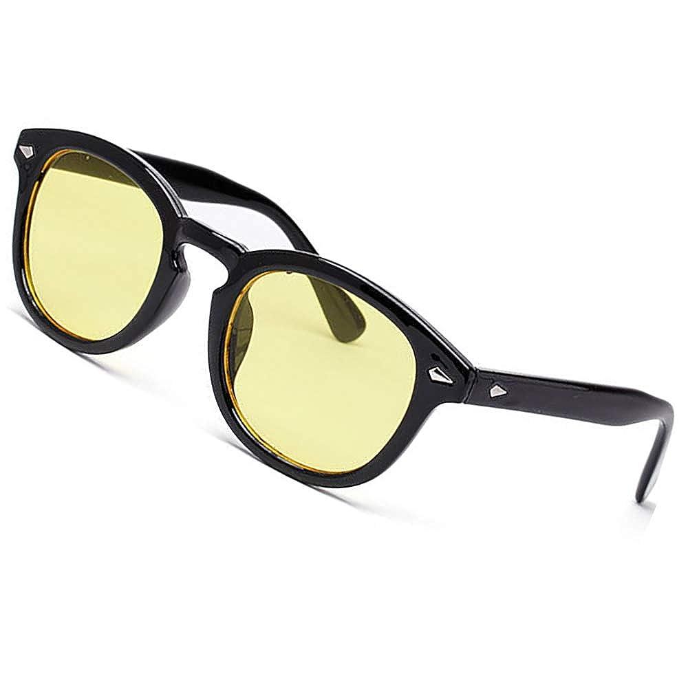 SHEEN KELLY Occhiali da sole stile MOSCOT mod DEPP ICONIC Johnny Depp uomo donna VINTAGE unisex rotondi lente blu colorate