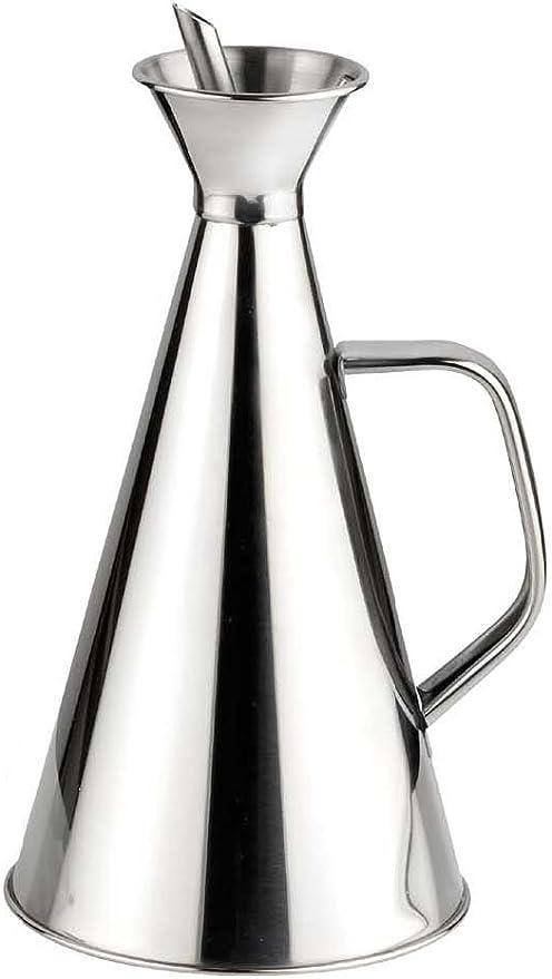 vier Aceitera antigoteo Inoxidable 0.25 litros Metal capacidad 1//4 Litros