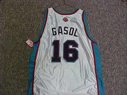 new products 3b8be 735ce Pau Gasol Memphis Grizzlies White Game Jersey at Amazon's ...