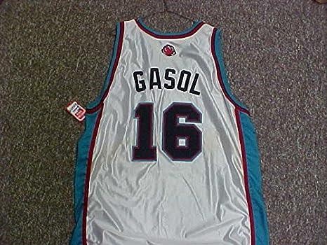 Amazon.com: Pau Gasol Memphis Grizzlies White Game Jersey ...