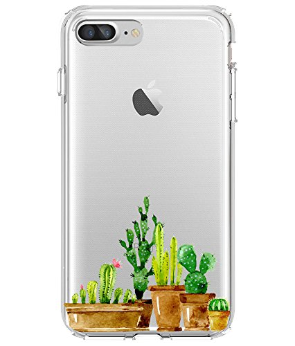 Shark Compatible Translucent Cactus Edition Clear Back Replacement iPhone 6
