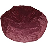 Ahh! Products Eggplant Velvet Microsuede Washable Large Bean Bag Chair Plush