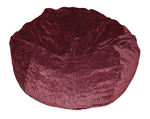 Ahh! Products Eggplant Velvet Microsuede Washable Large Bean Bag Chair Plush by Ahh! Products