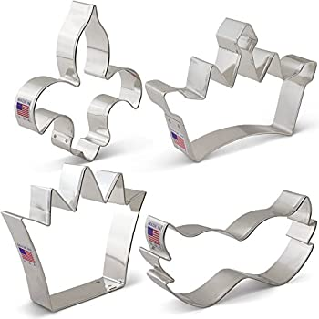 6 pc mardi gras cookie cutter set l9020 kitchen dining