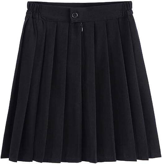 Dastrues Mujer Plisado Faldas Cintura Elástica Marinero Mini ...