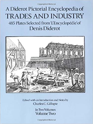 a diderot pictorial encyclopedia of trades and industry manufacturing and the technical arts in plates selected from lencyclopedie ou dictionnai 002 dover pictorial archive series