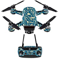 Skin for DJI Spark Mini Drone Combo - Deco Fish| MightySkins Protective, Durable, and Unique Vinyl Decal wrap cover | Easy To Apply, Remove, and Change Styles | Made in the USA