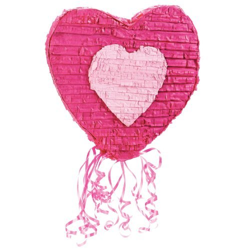Heart-20-Pull-String-Pinata-by-BirthdayExpress