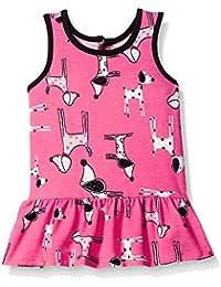 Baby Girls' Puppy Printed Knit Dress