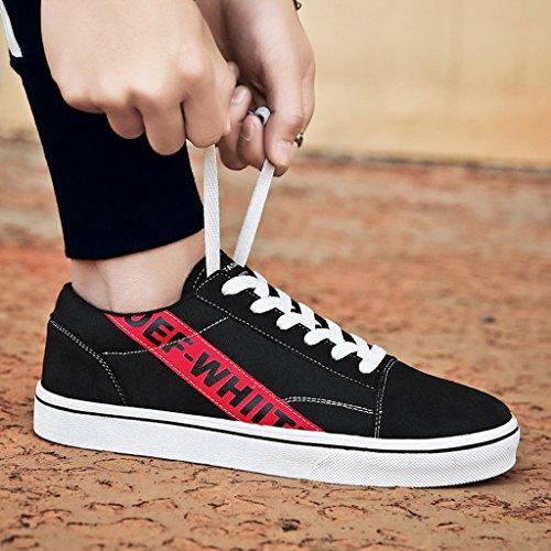 scarpe traspiranti uomo maschile da coreano Espadrillas tessuto Size scarpe Scarpe Red Color di basse Yellow studente estate YaNanHome in 41 Scarpe tela da stile nuovo di stile p7R1xwnq