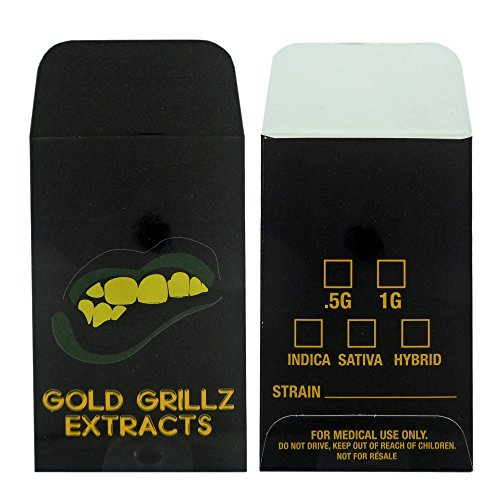 500 Gold Grillz Extracts Premium Concentrate Envelopes by Shatter Labels #143 by Shatter Labels