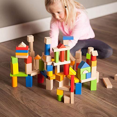 Wooden Blocks Set (Fat Brain Toys 100 pc Block Set - Timber Blocks - 100 Piece Wooden Block)