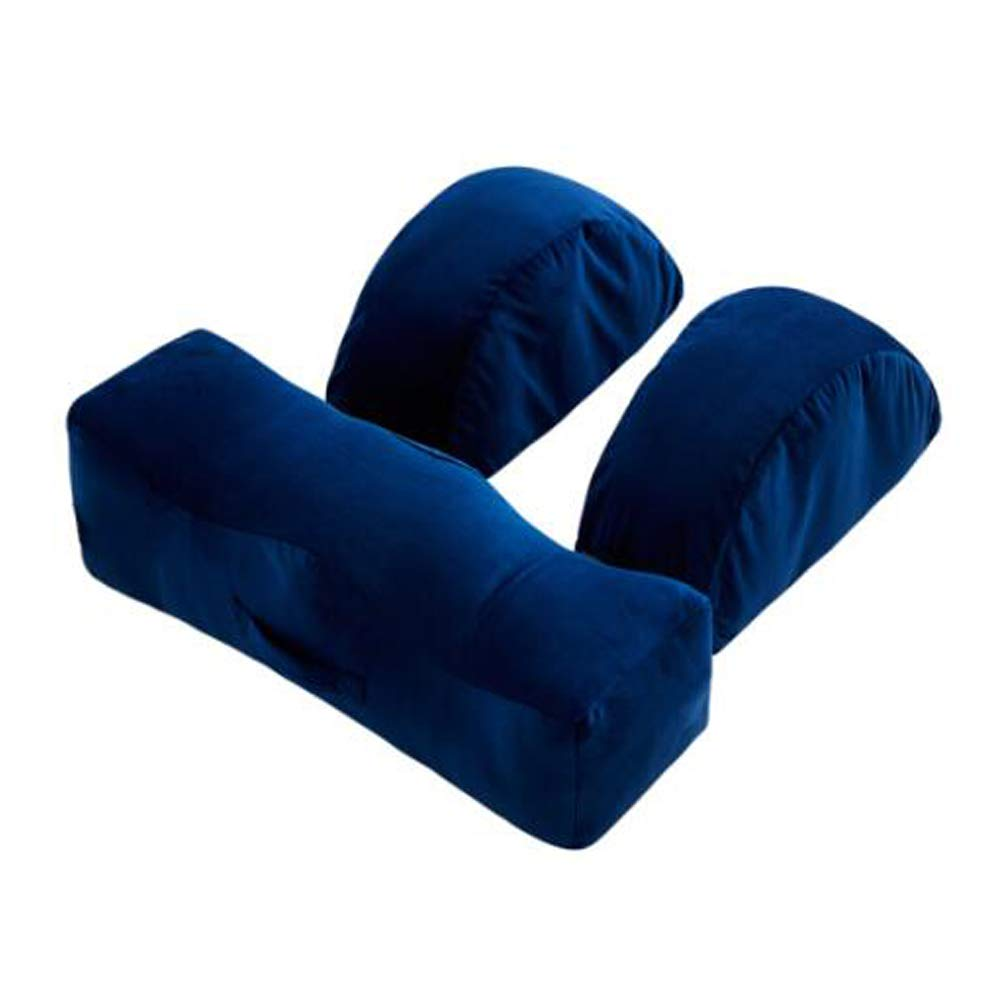 Orthopedic Knee Pillow - Memory Foam, with Removable Cover, for Sciatica Relief, Leg Pain and Spine Alignment, Blue