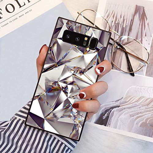 YOKIRIN Square Case for Samsung Galaxy Note 8 Chic Retro Classic Stylish Cover for Samsung Galaxy Note 8 Shockproof Strong Protective Back Casing Diamond Geometric -