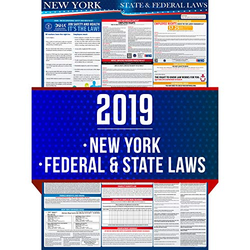 (2019 New York State and Federal Labor Laws Poster - OSHA Workplace Compliant 24