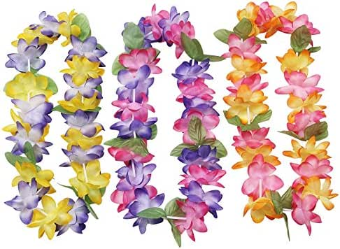 Mahalo Floral Leis : Package of 12 by Oojami
