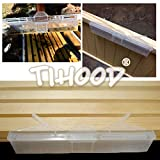 TIHOOD 12 Pack Clear Reusable Small Hive Beetle Oil Traps,Environmentally & Friendly & Safe for Bees,Beekeeping Supplies