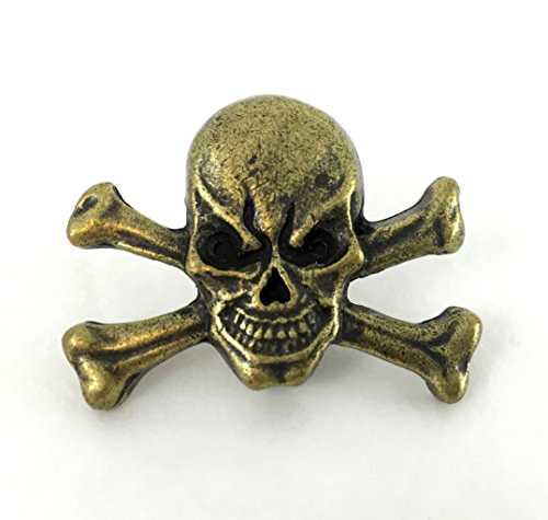 Springfield Leather Company's Skull Crossbones Concho, Antique Gold Plated (Skull Crossbones Leather)