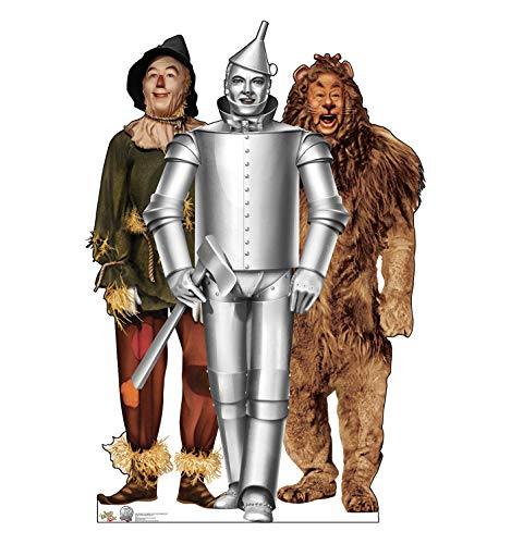 Advanced Graphics Tin Man, Cowardly Lion and Scarecrow Life Size Cardboard Cutout Standup - The Wizard of Oz 75th Anniversary (1939 Film) -