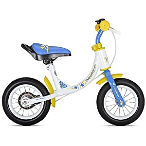 WeeRide Learn 2 Ride Balance Bike, White, 10-Inch