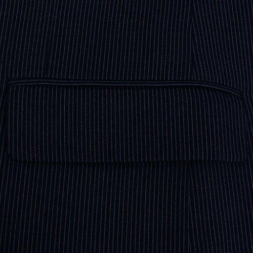 vidaXL Completo da Uomo a 2 Pz Giacca Pantaloni Elegante Blu Striato Taglia 46