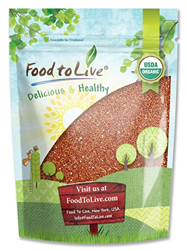 Organic Red Quinoa by Food to Live (Kosher, Bulk) - 3 pounds (Foods That Contain All 9 Essential Amino Acids)