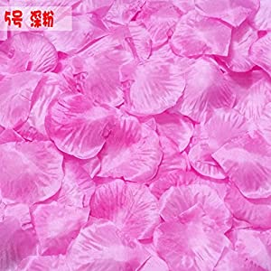 DALAMODA 1000pcs Silk Rose Petals Bouquet Artificial Flower Wedding Party Aisle Decor Tabl Scatters Confett 86