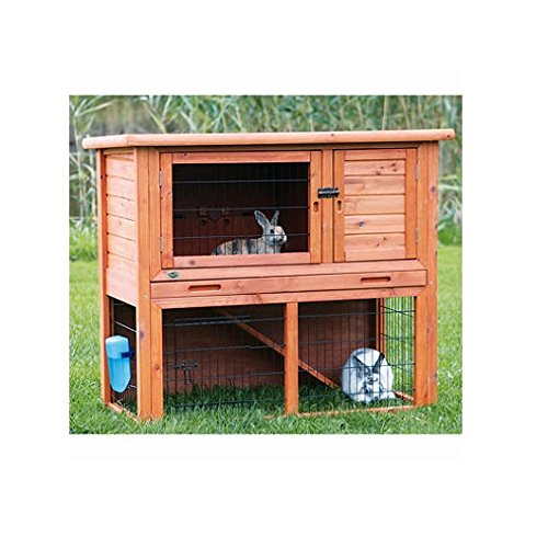 Price comparison product image Rabbit Hutch with Sloped Roof,  Medium - Glazed Pine