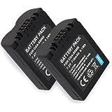 2x Batterie pour CGR-S006 PANASONIC LUMIX DMC-FZ7, FZ8, FZ18, FZ28, FZ30, FZ35, FZ38, FZ50