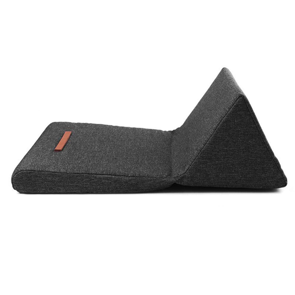 Big-time Cushion Triangular Folding Reading Stand Tablet Pillow Stand Foldable Portable Multi-Purpose Tablet Pillow for Home Office Travel