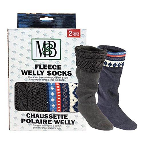 Azul Socks Y Welly Moneysworth Knit Mejor Rey Polar Gris Forro grey Motif blue xIYwXrdnXq