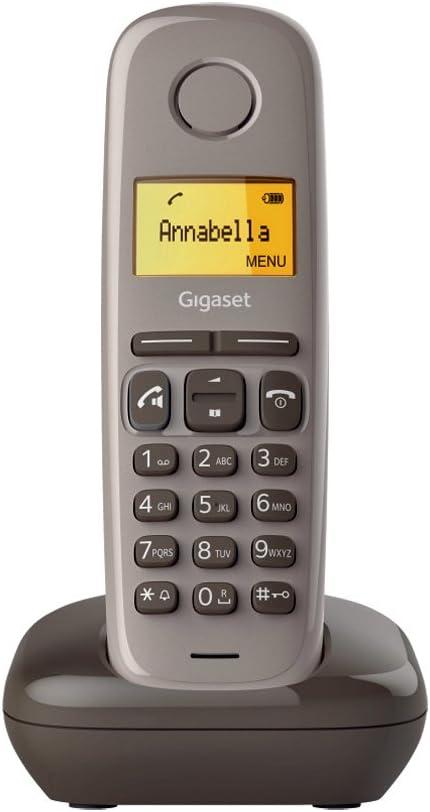 Gigaset A270 - Teléfono (Teléfono DECT, Terminal inalámbrico, Altavoz, 80 entradas, Identificador de Llamadas, Marrón): Amazon.es: Electrónica