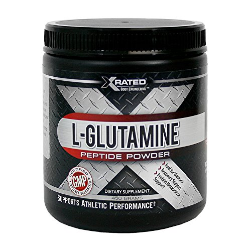Xrated Body Engineering L-Glutamine Peptide Powder (450 Grams) by Xrated Body Engineering