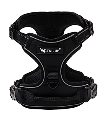 TAILUP Front Range Dog Harness No-Pull Pet Harness Adjustable Outdoor Vest with 3M Reflective for Dogs
