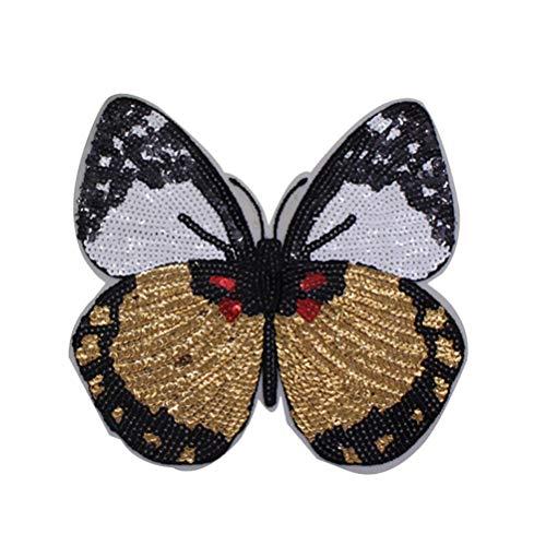 STOBOK DIY Ropa Bordado Color Mariposa Lentejuelas Mariposa Lentejuelas Parches Bordados Apliques para la Ropa de Costura