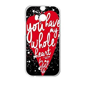 HTC One M8 Cell Phone Case White You Have My Whole Heart LSO7756789