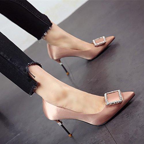 FLYRCX Europäische Simple Mode scharfe scharfe scharfe Heel High Heels ea92bc