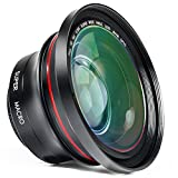 Camcorder Lens 2 in 1 Full HD 72mm Professional 0.39X Super Wide Angle Lens with 37mm Thread Macro Portion Kit for Photography and Video Camera by Emperor of Gadgets