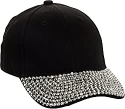 Adjustable Rhinestone Brim Baseball Cap