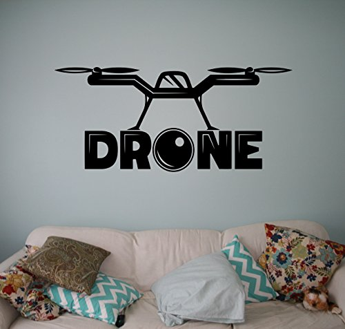Quadcopter with Camera Wall Vinyl Decal Air Drone Wall Sticker ...