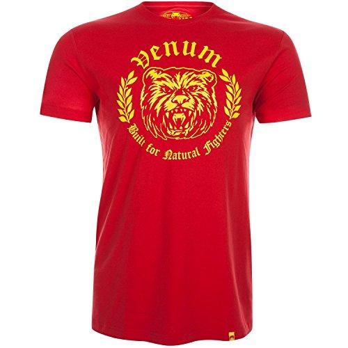 Venum Men's Natural Fighter Bear T-Shirt, Red, Large