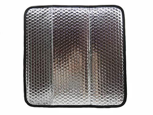 PetriStor 16x16 Cover Sun Shield Shade RV Reflective Vent Cover (Edges color black)