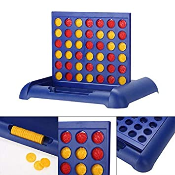 aarav enterprise Plastic Kids Connect 4 Game in a Row Standard (Blue, Kids Connect 4 Educational Board Game)