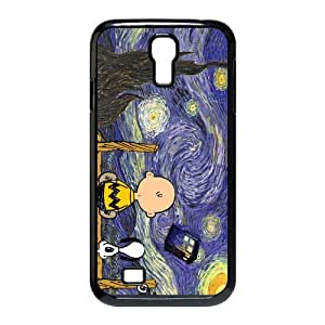 Custom Protective Phone Case for SamSung Galaxy S4, Snoopy The Starry Night Laster Technology Nice Quality Plastic and TPU Cover