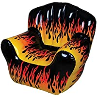 Rhode Island Novelty Flame Print Inflatable Chair - (1)