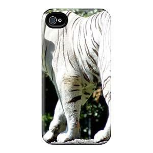 QTSfCjUa3382 Faddish Wihte Tiger Case Cover For Iphone 4/4s