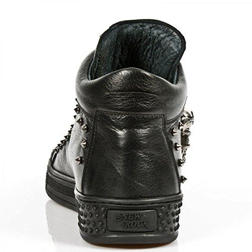Nuovi Stivali Di Roccia M.ps020-c10 Gotico Hardrock Punk Sneeker Unisex Schwarz
