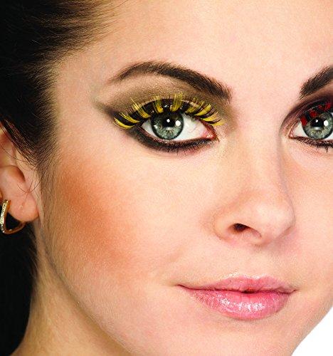 [Rubies Costume False Eyelashes Black & Yellow Bumblebee] (Eye Makeup For Bumble Bee Costume)